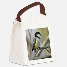 Chickadee Bird Canvas Lunch Bag