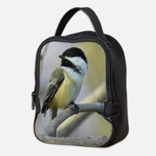 Chickadee Bird Neoprene Lunch Bag