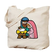 Cute Nativity Scene Tote Bag