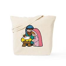 Cute Nativity Scene Tote Bag