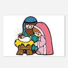 Cute Nativity Scene Postcards (Package of 8)