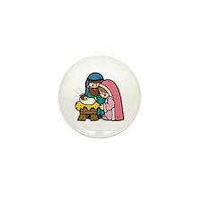 Cute Nativity Scene Mini Button (10 pack)