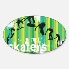 Ink Sketch of Skateboard Sequence Green St Decal