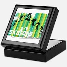 Ink Sketch of Skateboard Sequence Gre Keepsake Box