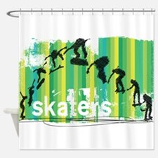 Ink Sketch of Skateboard Sequence G Shower Curtain