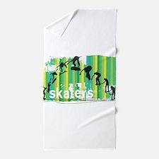 Ink Sketch of Skateboard Sequence Gree Beach Towel