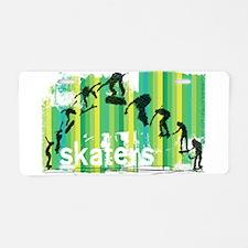 Ink Sketch of Skateboard Se Aluminum License Plate