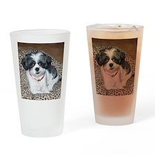 Shih Tzu Dog Photo Drinking Glass