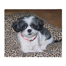 Shih Tzu Dog Photo Throw Blanket