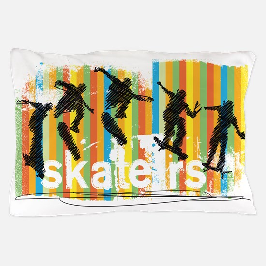 Unique Extreme skateboarding Pillow Case