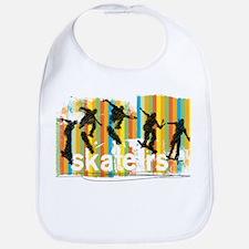 Ink Sketch of Skateboarder Progressive Sequenc Bib