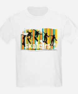 Ink Sketch of Skateboarder Progressive Seq T-Shirt