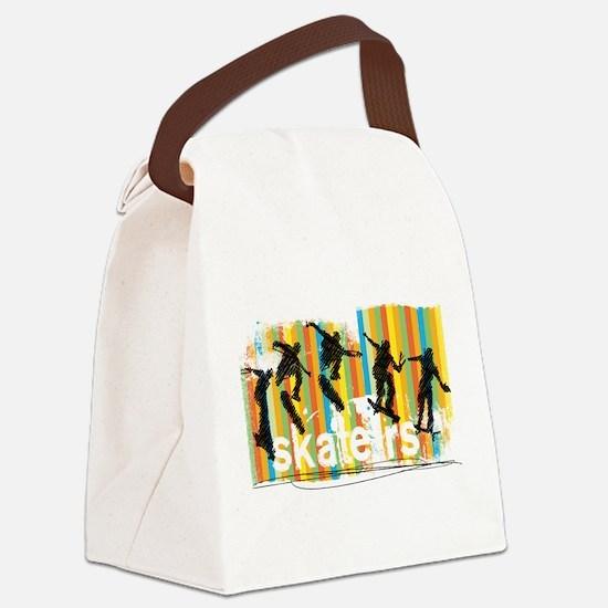 Ink Sketch of Skateboarder Progre Canvas Lunch Bag