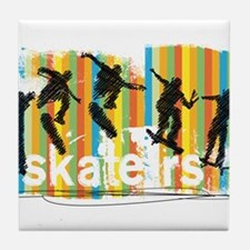 Ink Sketch of Skateboarder Progressiv Tile Coaster