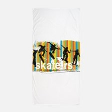Ink Sketch of Skateboarder Progressive Beach Towel