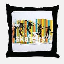Ink Sketch of Skateboarder Progressiv Throw Pillow