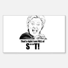 HILL admits she's full of it Decal