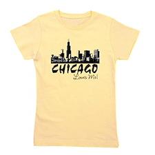 Unique I love chicago Girl's Tee
