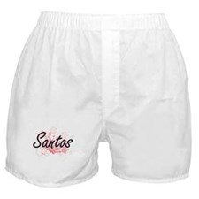 Santos surname artistic design with F Boxer Shorts