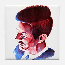 JFK - Solemn Tile Coaster