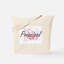Principal Artistic Job Design with Flower Tote Bag