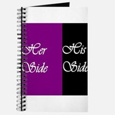 Her Side: His Side , purple, black Journal