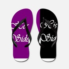 Her Side: His Side , purple, black Flip Flops