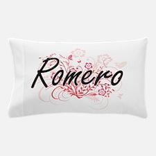Romero surname artistic design with Fl Pillow Case
