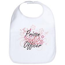 Prison Officer Artistic Job Design with Flower Bib