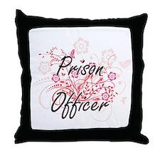 Prison Officer Artistic Job Design wi Throw Pillow