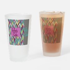 Her Side His Side Chevron Drinking Glass