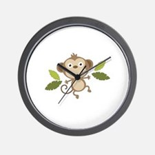 Baby Monkey Wall Clock