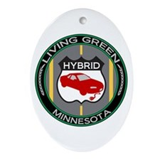 Living Green Hybrid Minnesota Oval Ornament