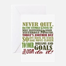 Never Quit Greeting Cards