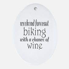 Cute Biker Oval Ornament