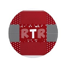 RTR houndstooth Button