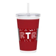 RTR houndstooth Acrylic Double-wall Tumbler