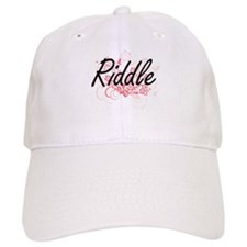 Riddle surname artistic design with Flowers Cap