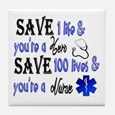 Nurse, Save Tile Coaster