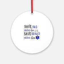 Nurse, Save Round Ornament