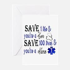 Nurse, Save Greeting Cards