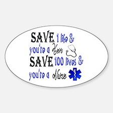 Nurse, Save Decal