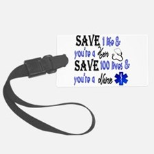 Nurse, Save Luggage Tag