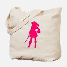 Pirate Silhouette Pink Tote Bag