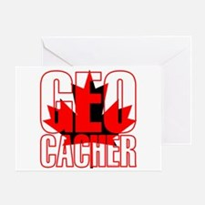 Maple Leaf Geocacher Greeting Card