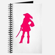 Pirate Silhouette Pink Journal