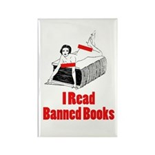 I Read Banned Books Rectangle Magnet