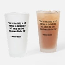 tact:Winston Churchhill Drinking Glass