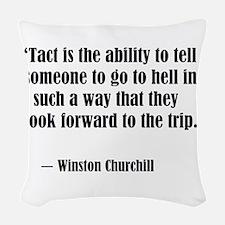 tact:Winston Churchhill Woven Throw Pillow