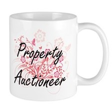 Property Auctioneer Artistic Job Design with Mugs